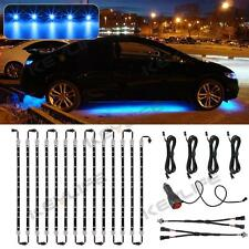 14pcs Blue LED Under Car Glow Underbody Undercar Shine Lights Bar Strip Kit