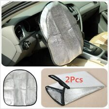 2Pcs car Steering Wheel Cover Sun shade Side window Sun visors Heat Reflector