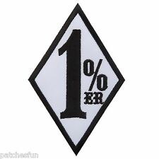 One Percenter 1%ER Outlaw Biker Motorcycle Muscle Cars Slogan Iron on Patch 1495