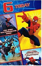 Marvel ultimate spiderman 6 today happy birthday card