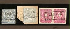 Preußen / ELLRICH 3 feinst-Kabinett-Stücke, dabei je Ra2 auf NDP 5, Briefstück