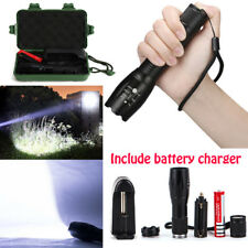 50000LM 5Modes T6 18650 LED Flashlight Zoomable Military Powerful Torch Lamp New