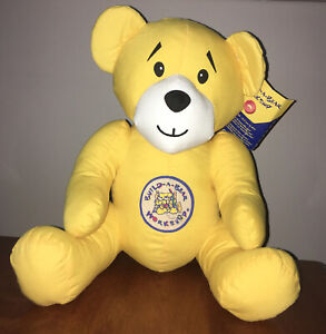 2013 Genuine Build A Bear Autograph Yellow Soft Toy Teddy Rare Bears With Tags
