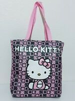 Hello Kitty Embroidered Sanrio Shoulder Tote Beach Bag Ladies Travel Purse Gift