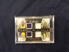 2018 In The Game Used MAGIC, KAREEM, BIRD, McHALE Rivals 2/2 RARE