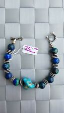 Azur Inez STG Turquoise Beaded Blue & Green Colored Beads Bracelet