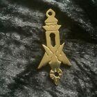 Decorative Vintage Brass Escutcheon/Keyhole Cover. Restoration. Masonic?