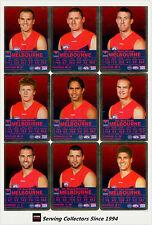2009 AFL Teamcoach Trading Card Silver Parallel Team set Melbourne (9)