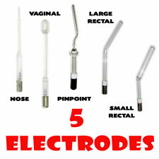 Lot 5 Electrode For Violet Ray D'Arsonval Corona Nose Vaginal Small Big Rectal