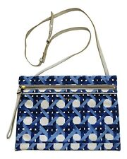 Paul Smith Ladies Zip fasten  Blue Graphics leather panel  Bag