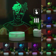 3D XXXTentacion Hip Hop Singer LED Night Light 7 Color USB Table Lamp Kids Gifts