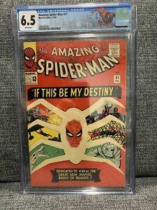 Amazing Spider-Man #31 CGC 6.5 White Pages 1965 (1st Gwen Stacy & Harry Osborn)