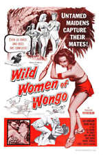 1958 WILD WOMEN OF WONGO VINTAGE MOVIE POSTER PRINT 54x36 BIG
