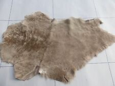 sheepskin shearling leather hide Coyote Brown silky haired w/Brown suede back