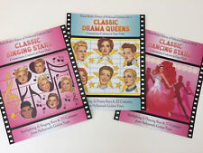 SPECIAL OFFER! 3 CLASSIC HOLLYWOOD Paper Doll Books w/18 Stars & 105 Costumes!