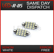 2x 42mm 16 Led Smd Canbus Error Free Festoon Luz Interior Bulbos Xenon Blanco