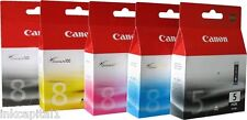 5 x Canon Original OEM Pixma (PGI-5PK & CLI-8) Ink Cartridges For MP810, MP830
