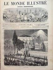 MONDE ILLUSTRE 1869 N 658 RECEPTION DE L'EMPEREUR D'AUTRICHE A CONSTANTINOPLE