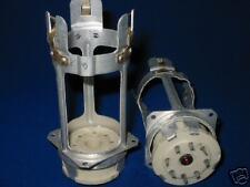 Pair METAL-CERAMIC SOCKETS for Tubes GU50, 5C9S, NOS