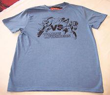 Transformers Battle Mens Blue Printed Short Sleeve T Shirt Size XS New