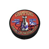 JOE KOCUR Signed 1994 Stanley Cup Champions Puck - New York Rangers