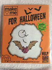 MOUSELOFT CROSS STITCH KIT ~  MAKE ME FOR HALLOWEEN ~ BAT ~ NEW