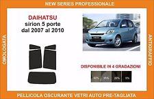 pellicola oscurante vetri dahiatsu siron 5 p dal 2007 al 2010