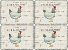 Pimpernel On The Farm Set Of 4 Cork Backed Heat Resistant Placemats Table Linens