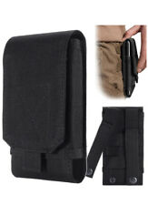 Fondina porta cellulare, colore nero, da esercito, per cintura, taglia L