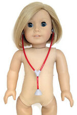 Red Medical Stethoscope for 18 inch American Girl Dolls Clothes Accessories