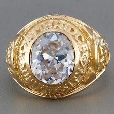 Graduation Oval Yellow Gold Fine Gemstone Rings