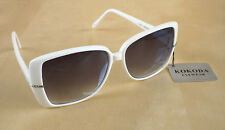 KOKODA WHITE FRAME SUNGLASSES + BLACK POUCH--NEW WITH TAGS *SHIPS FROM SYDNEY*