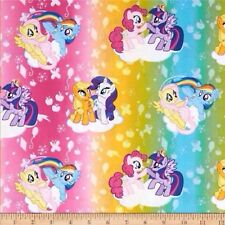 My Little Pony Traditional Ombre Toss Multi 100% Cotton  Half Yard 45cm x 110cm