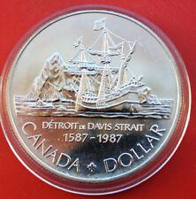 """Kanada-Canada 1 Dollar 1987 ST-BU KM# 154  #F 1013  """"Brigg Sunshine"""" ST-BU"""