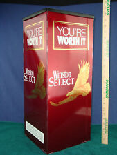 """VINTAGE 1993 WINSTON SELECT """"You're worth it"""" METAL FLOOR ASHTRAY. 24"""" x 10"""""""