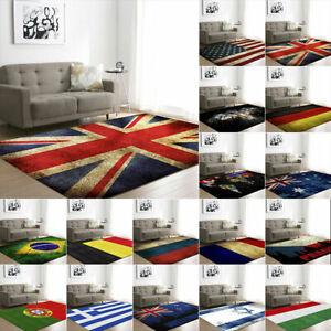 Union Jack Rug National Flag Rugs Living Room Carpet Non-Slip Floor Bedroom Mat