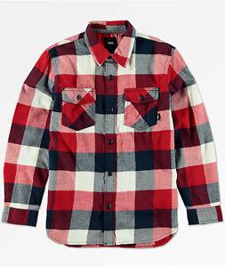 VANS Boys Box Flannel Shirt Medium New