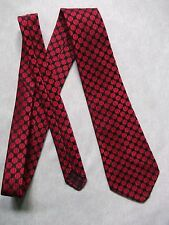 TOOTAL BOYS TIE VINTAGE 1960s 1970s MINI MOD AGE 8-14 BLACK RED POLKA DOT SPOTS