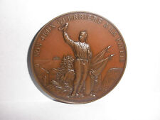 Rare antique Swiss 1892 Bronze Medal Shooting Fest Neuchatel Le Locle  H Freres