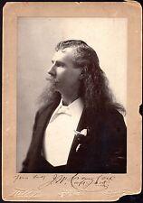 HISTORIC c.1890 CAPTAIN JACK CRAWFORD AUTOGRAPHED PHOTO ~I. W. TABER PHOTOGRAPH