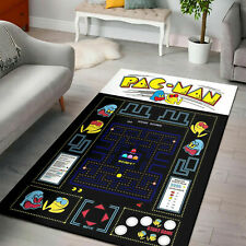 HOT - Pacman Gaming Area Rug Living Room, Anti Skid Carpet, The US Decor