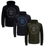 JACK & JONES Core Marko Mens Sporty Overhead Gym Hoodie Hooded Sweatshirt Top