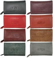Leder Damen Geldbörse Großes Portemonnaie Brieftasche für Frauen mit viel Platz