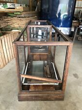 Antique Store Display Showcase Oak General Store SHOW CASES 10' LONG 3'1/2 HIGH