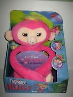 WowWee Fingerlings Hugs BELLA Friendly Interactive Plush Monkey Pink NEW in Box