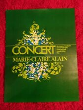 VINTAGE Marie Claire Alain Concert poster 1970's French organist bach rare!