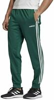 Adidas Training Pants Mens Large to 2XL New Green Essentials 3 Stripes Tapered