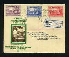 Australia 1937 Nsw Sesqui-Centenary Official Fdc Sydney Nsw cds