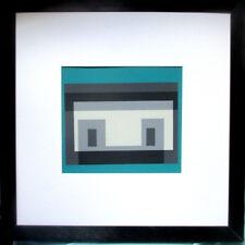 JOSEF ALBERS >Variation eines Themas< Original Doppel-Siebdruck mit Rahmen 43x43