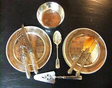 Set articoli d'vasellame metallo argentato